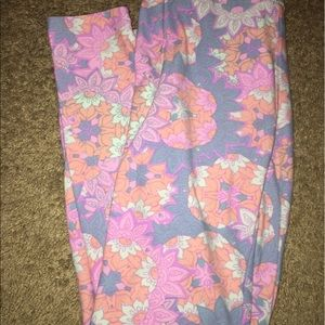 Luluroe one size flower pants
